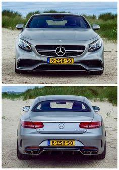 Met z'n afgetrainde body kan je met de Mercedes-AMG S 63 prima het strand op. ©Bas Fransen.