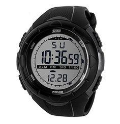 OGYA Men's Multifunctional Military Waterproof Big Case Rubber Band Digital LED Sport Watch - Black  #band #Black #case #Digital #Men's #military #Multifunctional #OGYA #Rubber #Sport #Watch #Waterproof MonitorWatches.com