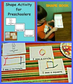 Preschool Themes, shapes, shape activities for preschoolers, printables, free PDF, preschool shape activities
