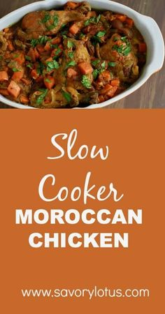 Whole30 Slow Cooker Moroccan Chicken Recipe