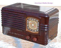 *American*Radio*Design* - Greg Mercurio - Deco-Mid Century, Retro Styled Vintage Tube Radios   : Westinghouse Pre WWII Five Tube Radio This is mode...