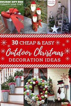 We've curated a list of these frugal and effortless DIY outdoor Christmas decorations ideas to brighten up the holistic view of your home! Diy Christmas Decorations For Home, Diy Christmas Lights, Frugal Christmas, Merry Christmas, Diy Christmas Decorations Easy, Christmas Crafts, Outdoor Decorations, Christmas Ideas, Decorating For Christmas Outdoors