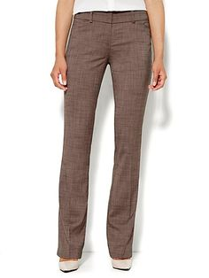 7th Avenue Pant - Modern Fit - Straight - Brown - Petite  - New York & Company