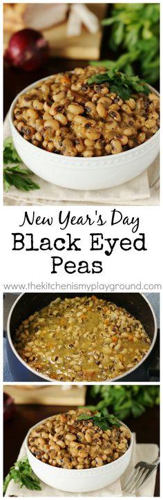 New Years Day Black Eyed Peas www.thekitchenismyplayground.com