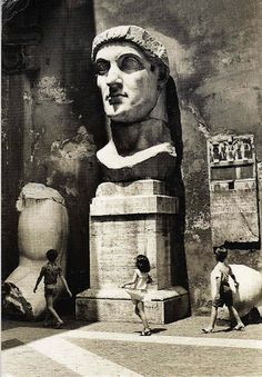 Remains of a colossal statute of the Emperor Constantine, Corrivetti Roma
