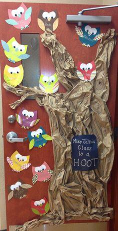 Owl classroom door…I'd put this on a wall