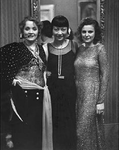 Marlene Dietrich, Anna May Wong and Leni Rieffenstal in Berlin 1928