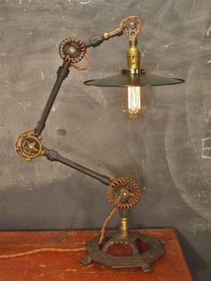 Vintage Cast Iron Lamp Light - Foter