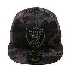 new concept 85a40 fb0e9 Exclusive New Era 59Fifty Oakland Raiders Hat - Black Camouflage