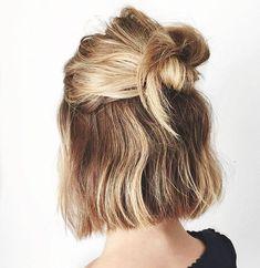 #hairstyle #trends short hair idea + half updo
