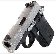 SIG P238 'Diamond Plate' 380 ACP. Nite Sites - Impact Guns