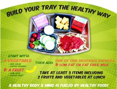 Build your tray the healthy way!