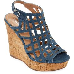 e81c9bf0278 Style Charles Antwerp Cork Wedge Sandals ( 90) ❤ liked on Polyvore  featuring shoes