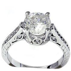 Pompeii 2.33 cttw Diamond Accent Ring 14K White Gold