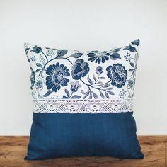 Купить Подушка декоративная на диван - тёмно-синий, подушка, подушка декоративная, подушка на диван