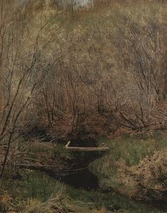 Spring in the Forest via Isaac Levitan Medium: oil, canvas