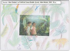 """Couverture réalisée par Maïssa à partir du livre """"La forêt de coeur bouliki"""" d'Alex Godard. Pour voir mon livre, il faut cliquer sur mon dessin."""