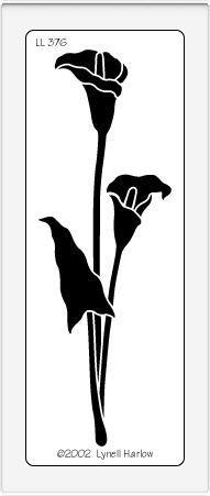 calla lily stencil
