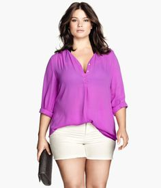 H&M H&M+ V-neck Blouse $29.95