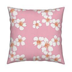 sakura-pro on Catalan by tezukuri_ Custom Fabric, Spoonflower, Throw Pillows, Wallpaper, Design, Home Decor, Toss Pillows, Decoration Home, Cushions