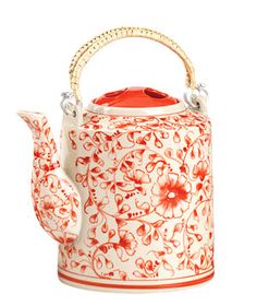 Red blossom teapot from Vietnam