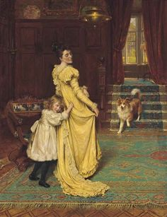 """Hide and Seek"" -- by George Hillyard Swinstead (British, 1860–1926)"