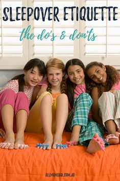 The time eventually comes for every child to embark on their first sleepover and in turn, host a sleepover. If this is your first sleepover too, here are some handy tips. Kids Sleepover, Sleepover Activities, Sleepover Birthday Parties, Terrible Twos, Handy Tips, Tween Girls, First Girl, Etiquette, Parenting Hacks