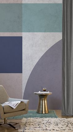 Chic and full of character, The Cardin Geometric Mural will without a doubt add statement to your home. The muted tones combined with its pure simplicity is guaranteed to make for a beautiful feature wall. Created by our designers, the mural is a glamourous way to give your wall that special something. #wallpaper #murals #interiordesign #design #home #homedecor #interiordecor #accentwall #inspiration #Ihavethisthingswithwalls #retro #geometric