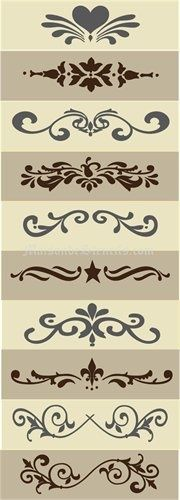 Stencils for crafts Stencil Patterns, Stencil Designs, Motif Arabesque, Stencils, Diy And Crafts, Arts And Crafts, Vinyl Projects, Silhouette Projects, Pyrography