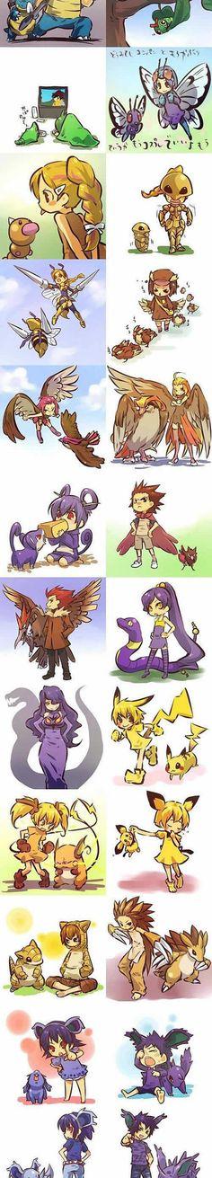 If pokemon were humans