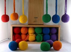 Froebel's 1st gift of yarn balls. Interesting article on educational manipulatives via Electronic Arms.
