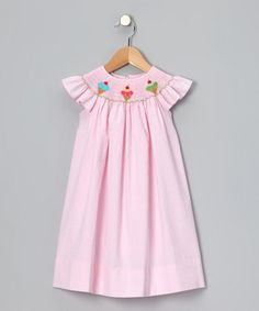 Take a look at this Pink Ice Cream Seersucker Smocked Dress - Infant, Toddler & Girls by Petite Palace on #zulily today!
