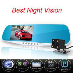 Newest Novatek 96655 Car Camera Dvr Blue Review Mirror Digital Video Recorder Auto Registrator Camcorder Dash Cam Night Vision