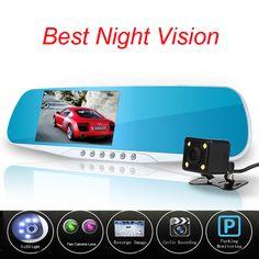Newest Novatek 96655 Car Camera Dvr Blue Review Mirror Digital Video Recorder Auto Registrator Camcorder Dash Cam Night Vision