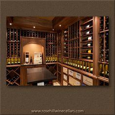 Walnut Wine Cellar from Rosehill Wine Cellars #wine #winestorage #wineracks #winefridges
