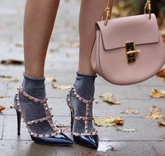 Socks with heels outfit