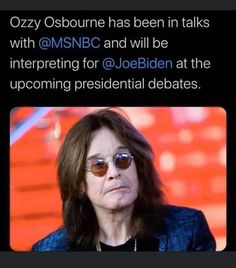Might actually tune in for this Ozzy Osbourne, Political Satire, Political Cartoons, Creepy Joe Biden, Round Sunglasses, Sunglasses Women, Funny Adult Memes, Donald Trump Jr, Cool Pictures