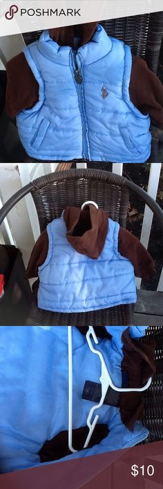 Boys Polo jacket Light blue puffer w/brown hood and sleeves,in great condition,smoke free,pet free home. Polo by Ralph Lauren Jackets & Coats Puffers