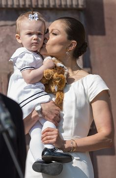 Crown Princess Victoria and her daughter Princess Estelle of Sweden
