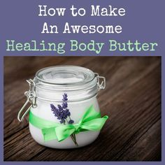 "Have you wondered about the hoopla surrounding body butters?  A body butter is like a salve except it does not include beeswax and has a creamy, silky feeling when applied to the skin.  Here is my version, including instructions for making a body butter version of ""Miracle Healing Salve"".  You are going to love it!  How to Make An Awesome Healing Body Butter 