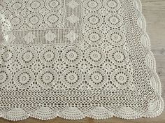 Vintage Crocheted Bedspread on Etsy