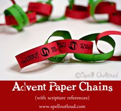 Free Easy Christmas Craft: Advent Paper Chains Download