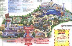 2013 Disneyland Adventure Park Map | Disney's California Adventure - 2006 Map