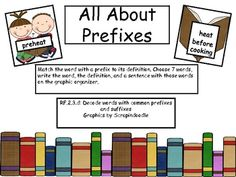 This is a center activity where students will match a prefix with its definition....