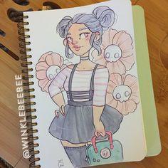 Cartoon Drawing Tips - Drawing On Demand Cartoon Drawings, Cool Drawings, Drawing Sketches, Drawing Challenge, Art Challenge, Character Drawing, Character Design, Copic Art, Art Inspiration Drawing