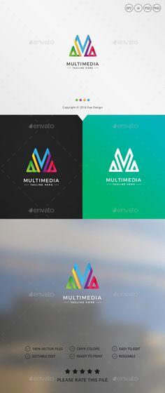 Multimedia Logo - Letters #Logo #Templates Download here: https://graphicriver.net/item/multimedia-logo/19477892?ref=alena994