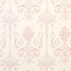 Josette Carnation Damask Wallpaper at Laura Ashley Pink Damask Wallpaper, Wallpaper Stencil, Bedroom Wallpaper, Wallpaper Samples, Wallpaper Ideas, Laura Ashley Josette, Traditional Living Room Furniture, Damask Decor, Parisian Bathroom