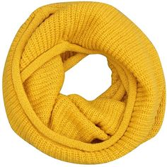 Women Winter Knit Infinity Scarf Fashion Circle Loop Scarves Thick... (71 HRK) ❤ liked on Polyvore featuring accessories, scarves, knit loop scarf, knit circle scarf, loop scarf, wrap scarves and yellow scarves