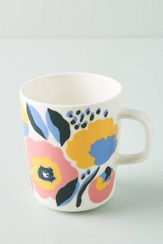 Marimekko Rosarium Mug by in Assorted, Mugs at Anthropologie Haida Art, Textile Patterns, Floral Patterns, African Textiles, Japanese Patterns, Illuminated Letters, Aboriginal Art, Marimekko, Textile Artists