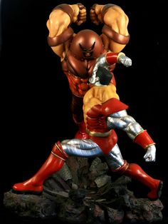 This just popped up online – a very awesome and massive diorama kit of Colossus taking on Juggernaut. – 1/6 scale – Approx. 24″ high with the base – Custom made &#8211…